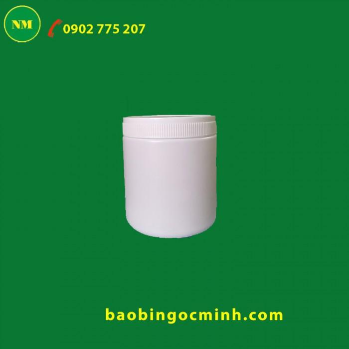 Hủ nhựa 500 gram, hủ nhựa 1 kg đựng bột ngũ cốc, bột đậu nành, bột nghệ8