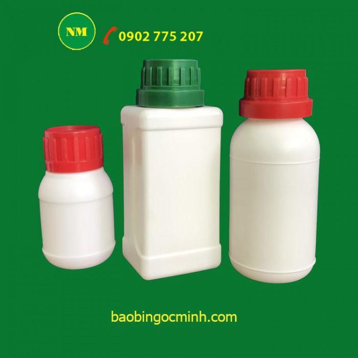 Chai nhựa 1 lít, chai nhựa 500ml, hủ nhựa 1 lít, hủ nhựa hdpe23