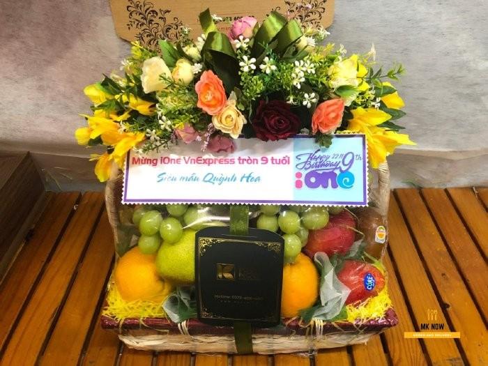 Giỏ trái cây tặng sinh nhật cơ quan - FSNK115 - MKnow.vn - 0373 600 6000