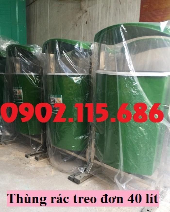 Thùng rác nhựa treo đôi, thùng rác treo 2 ngăn, thùng rác treo đôi 80L, thùng rác treo đôi 55L,5
