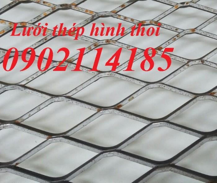 Lưới thép hình thoi, lưới dập giãn, lưới thép kéo giãn5