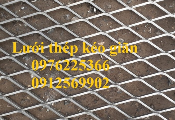 Lưới thép hình thoi, lưới dập giãn, lưới thép kéo giãn7