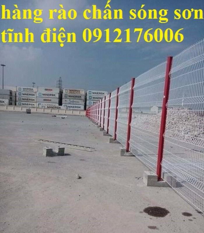 Hàng rào chấn sóng phi 4.5.6 mạ kẽm sơn tĩnh điện5