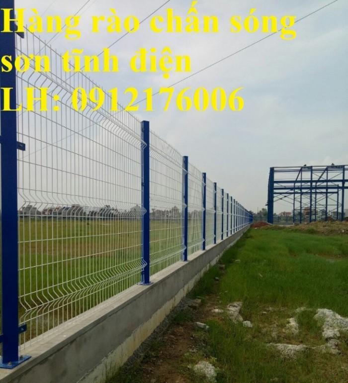 Hàng rào chấn sóng phi 4.5.6 mạ kẽm sơn tĩnh điện20