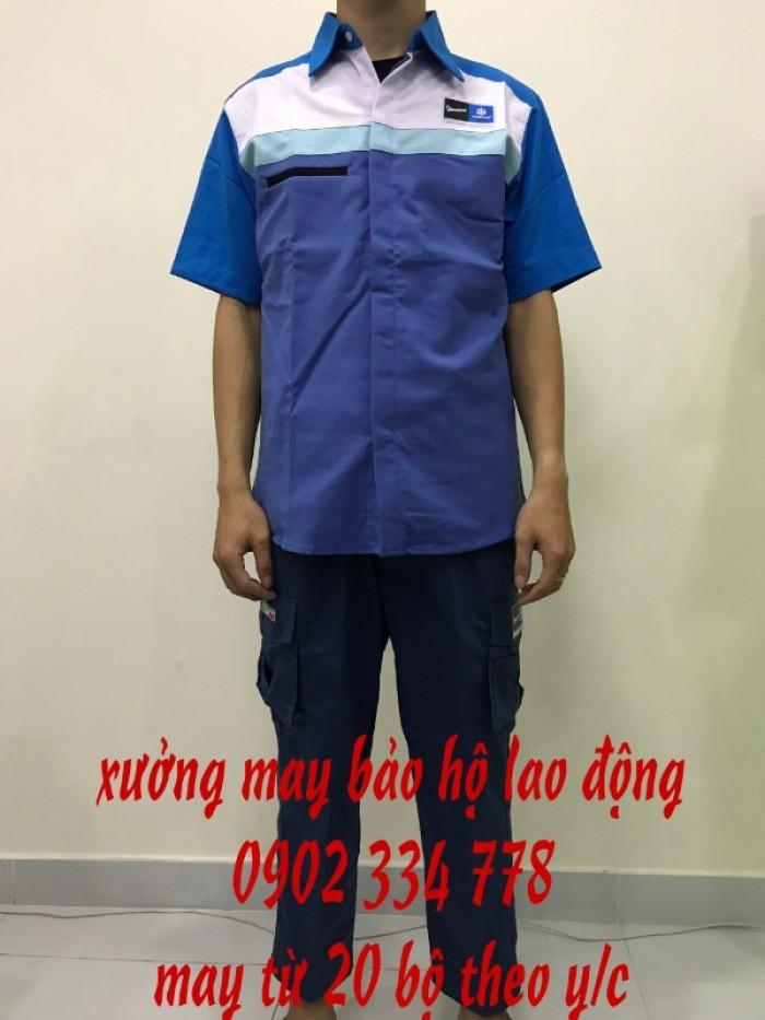 Sản xuất quần áo bảo hộ lao động giá rẻ TPHCM. Sản xuất áo bảo hộ lao động cho công nhân công trình.1