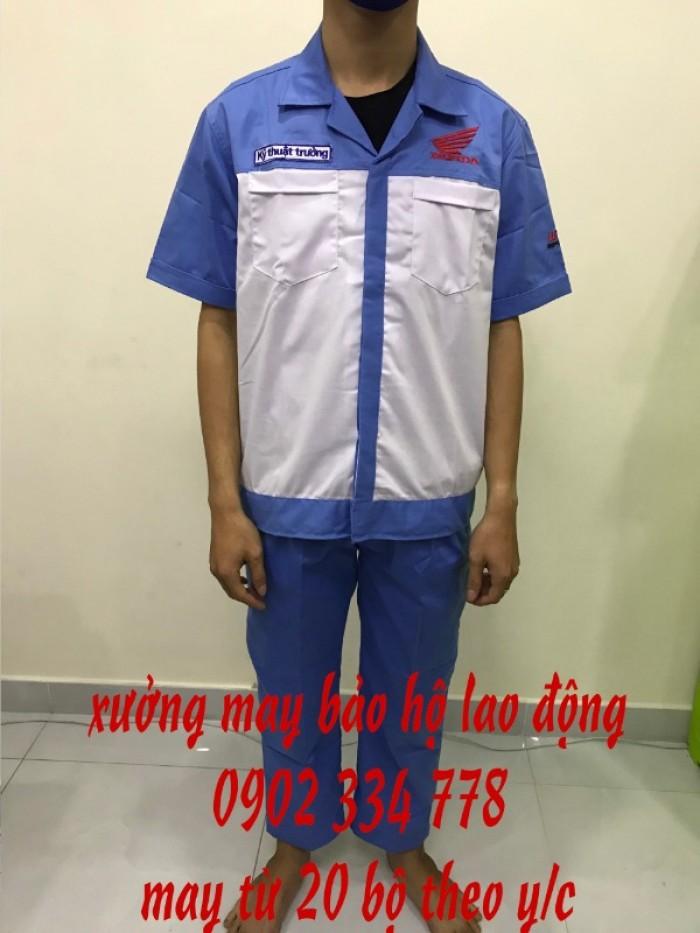Sản xuất quần áo bảo hộ lao động giá rẻ TPHCM. Sản xuất áo bảo hộ lao động cho công nhân công trình.2