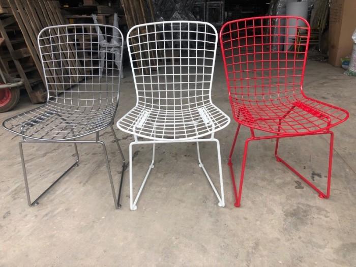 Ghế xếp chân sắt nhiều màu0