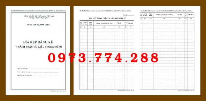 Bộ bìa kẹp hồ sơ cán bộ công chức5