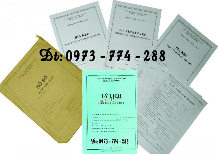 Bộ bìa kẹp hồ sơ cán bộ công chức17