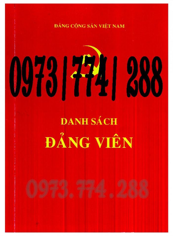 Sổ danh sách Đảng viên - Đảng Cộng Sản Việt Nam - Chi ủy - Chi bộ0