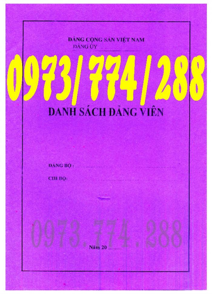 Sổ danh sách Đảng viên - Đảng Cộng Sản Việt Nam - Chi ủy - Chi bộ2