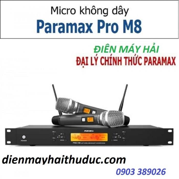 Micro Paramax Pro M8 là dòng Micro không dây cao cấp, được sử dụng cho các dàn âm thanh chuyên nghiệp2