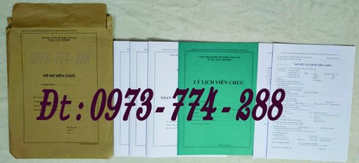 Bộ hồ sơ cán bộ công chức có mẫu b01, b02, b03, b04, b05, b06, hs09-VC/BNV giá rẻ, mẫu chuẩn mới nhất30