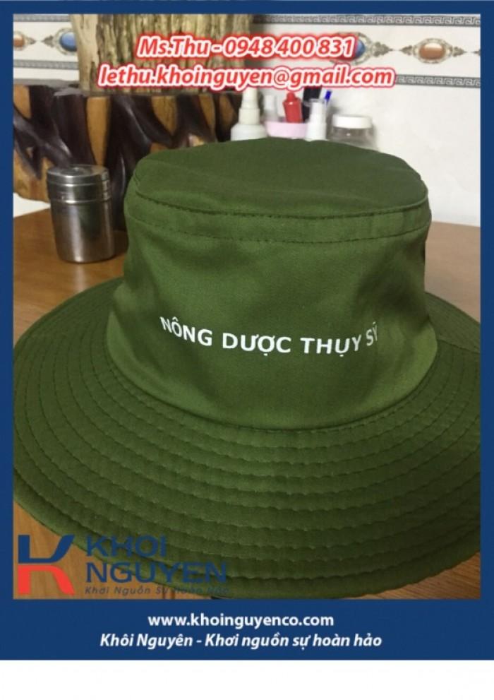NÓN BO VÀNH TO MÀU RÊU. Công ty sản xuất nón tai bèo theo yêu cầu in thêu logo. Ms. THU - 0948 400 8312