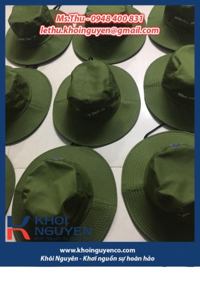 NÓN BO VÀNH TO MÀU RÊU. Công ty sản xuất nón tai bèo theo yêu cầu in thêu logo. Ms. THU - 0948 400 8311