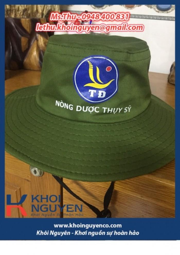 NÓN BO VÀNH TO MÀU RÊU. Công ty sản xuất nón tai bèo theo yêu cầu in thêu logo. Ms. THU - 0948 400 8315