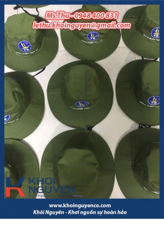 NÓN BO VÀNH TO MÀU RÊU. Công ty sản xuất nón tai bèo theo yêu cầu in thêu logo. Ms. THU - 0948 400 8314