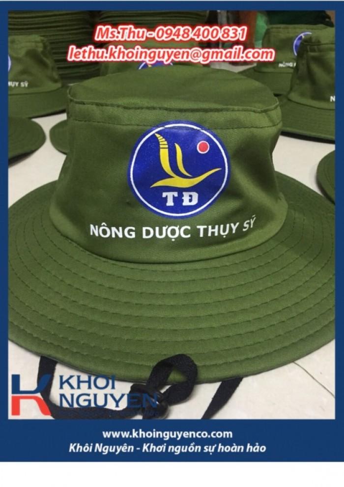 NÓN BO VÀNH TO MÀU RÊU. Công ty sản xuất nón tai bèo theo yêu cầu in thêu logo. Ms. THU - 0948 400 8316