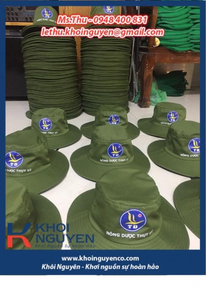 NÓN BO VÀNH TO MÀU RÊU. Công ty sản xuất nón tai bèo theo yêu cầu in thêu logo. Ms. THU - 0948 400 8313
