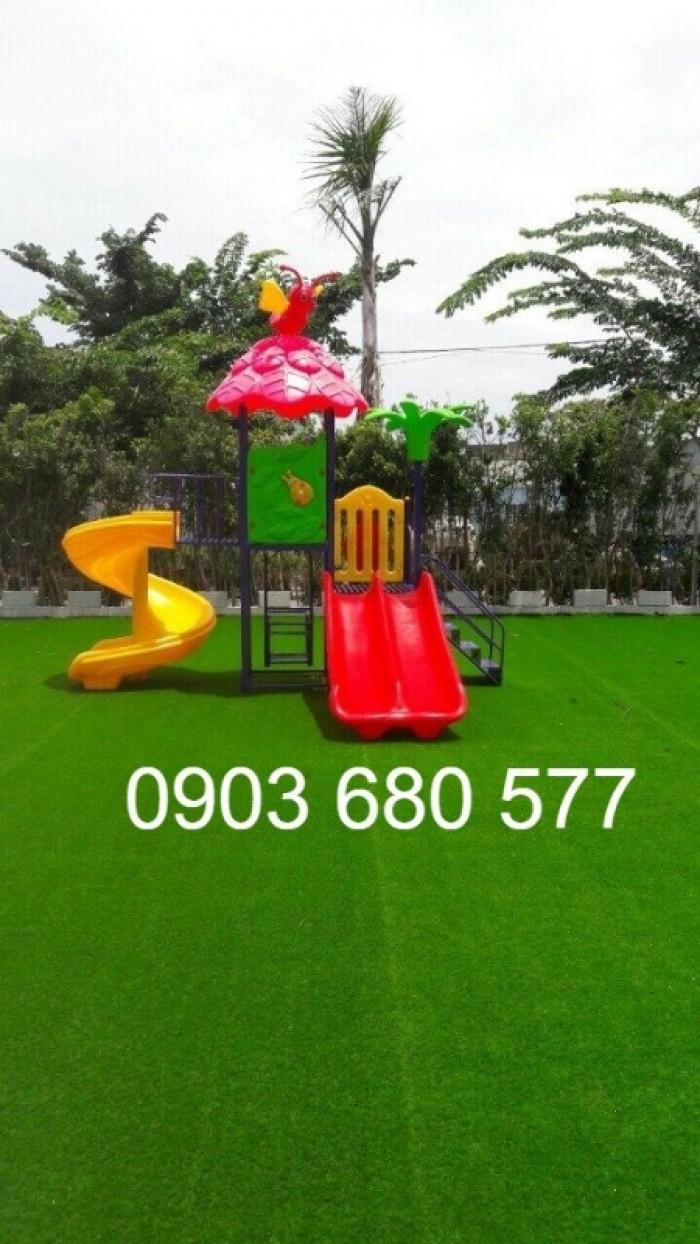 Chuyên thi công cỏ nhân tạo cho trường học, công viên, sân chơi, sân bóng đá,...25