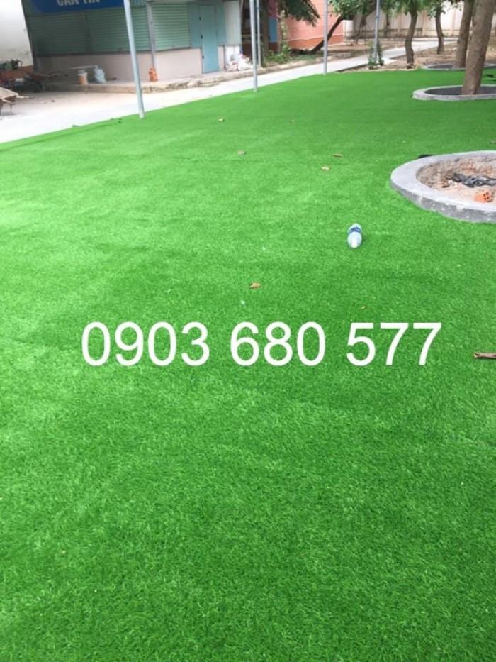 Chuyên thi công cỏ nhân tạo cho trường học, công viên, sân chơi, sân bóng đá,...20