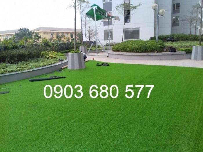 Chuyên thi công cỏ nhân tạo cho trường học, công viên, sân chơi, sân bóng đá,...11