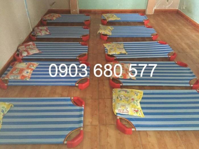 Chuyên bán giường ngủ lưới trẻ em cho trường mầm non, lớp mẫu giáo, gia đình7
