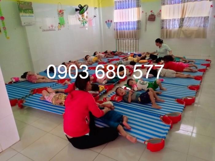 Chuyên bán giường ngủ lưới trẻ em cho trường mầm non, lớp mẫu giáo, gia đình8