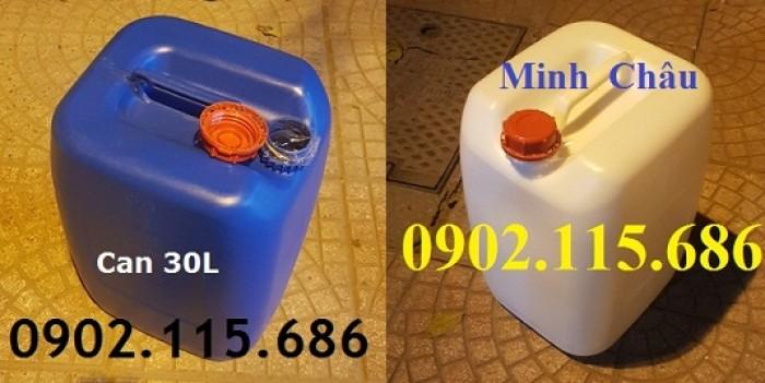 Can 30l đựng hóa chất, can 30l nhựa HDPE, can 30l loại dày, can 30l đựng axit,0