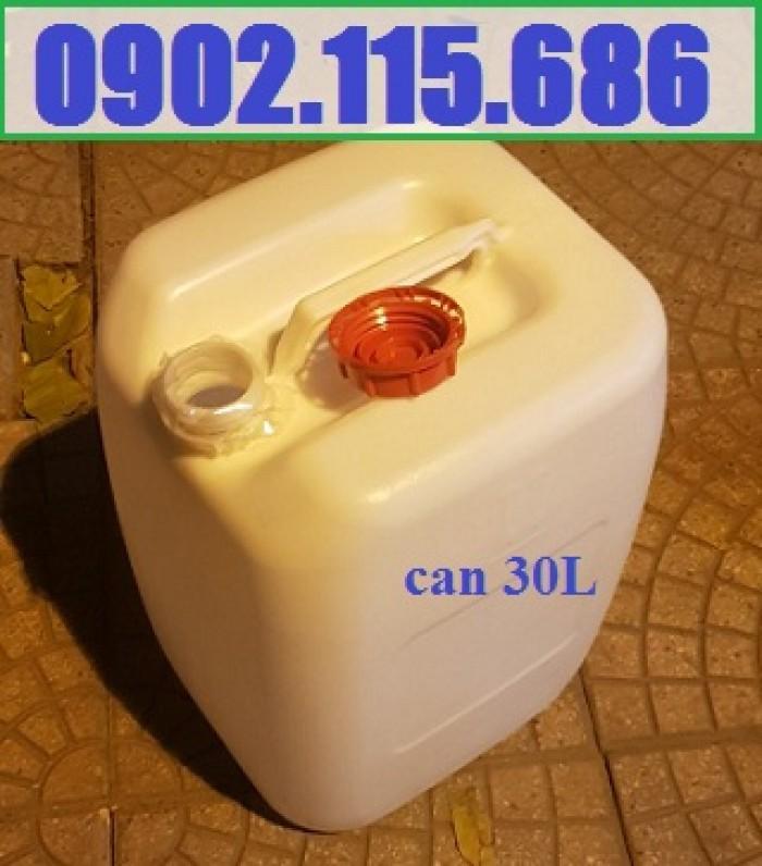 Can 30l đựng hóa chất, can 30l nhựa HDPE, can 30l loại dày, can 30l đựng axit,3