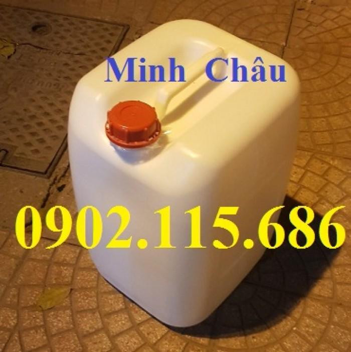 Can 30l đựng hóa chất, can 30l nhựa HDPE, can 30l loại dày, can 30l đựng axit,4
