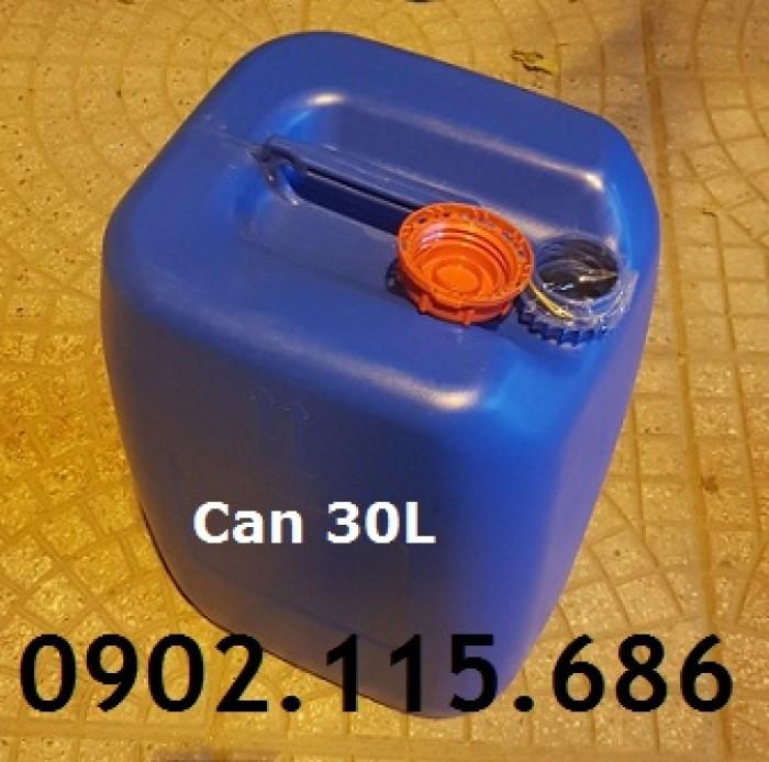 Can 30l đựng hóa chất, can 30l nhựa HDPE, can 30l loại dày, can 30l đựng axit,2