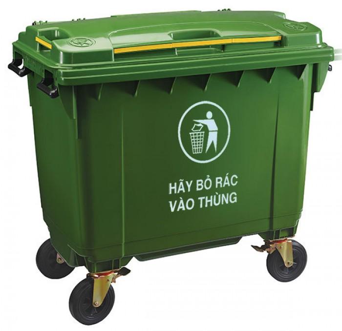Bán thùng rác nhựa HDPE chất lượng cao, giá tốt, giao hàng tận nơi2