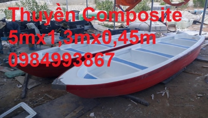 Thuyền Composite Chèo Tay 3,6mx1,1mx0,5m0