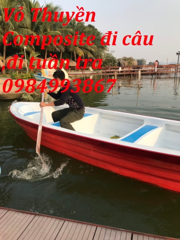 Thuyền Composite Chèo Tay 3,6mx1,1mx0,5m5