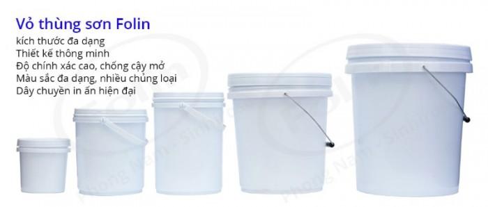 Bán vỏ thùng sơn nhựa 5L, 10L, 18L0