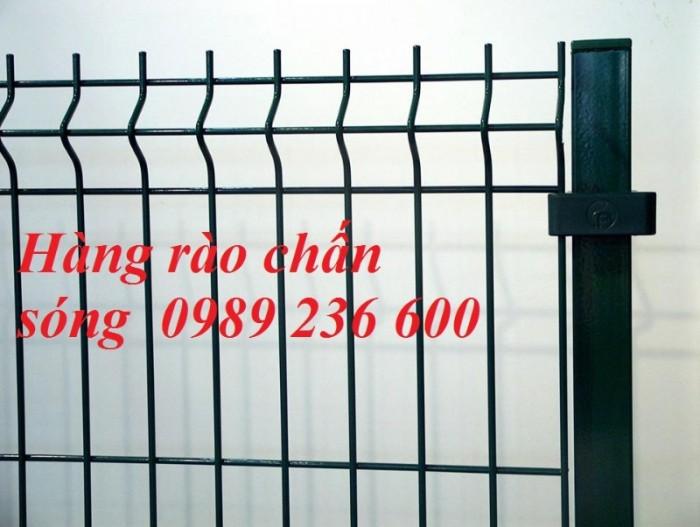 Hàng rào mạ kẽm sơn tĩnh điện màu xanh dứa hấu1