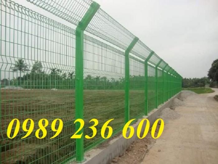 Hàng rào mạ kẽm sơn tĩnh điện màu xanh nõn chuối2