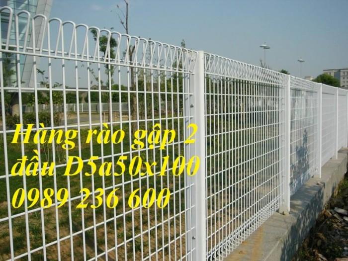 Hàng rào mạ kẽm sơn tĩnh điện màu trắng 3