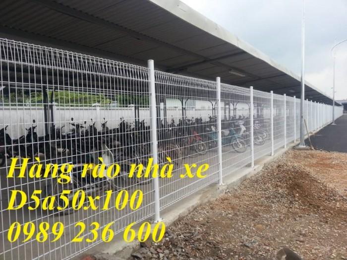 Hàng rào mạ kẽm sơn tĩnh điện màu trắng 4