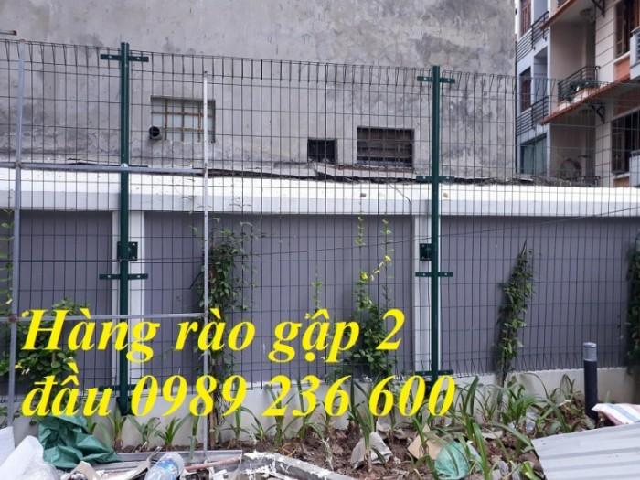 Hàng rào mạ kẽm sơn tĩnh điện màu xanh dứa hấu5