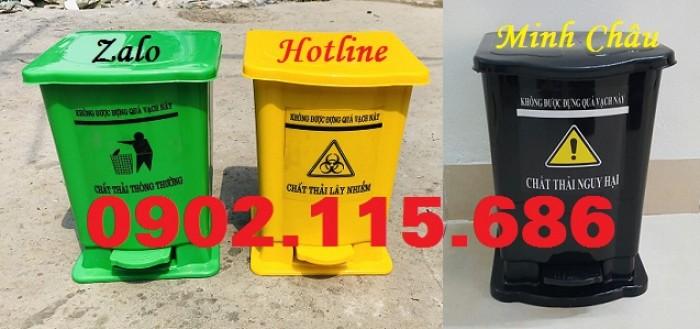 Thùng rác y tế 15 lít, thùng rác đạp chân 15 lít, thùng phân loại rác y tế 15 lít,0