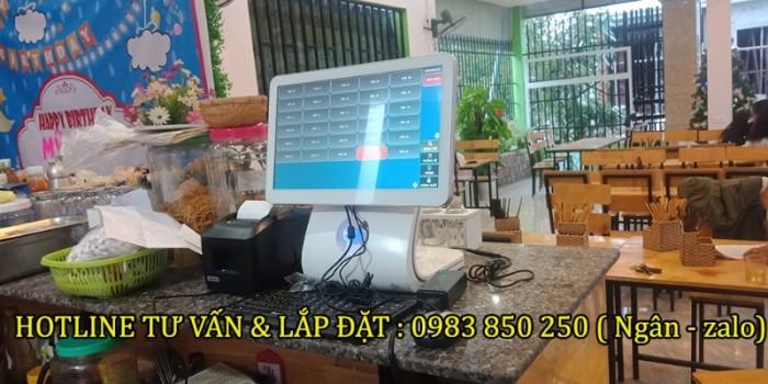 Bộ máy tính tiền cho quán trà sữa- coffee- trà chanh tại Đà Nẵng, Huế2