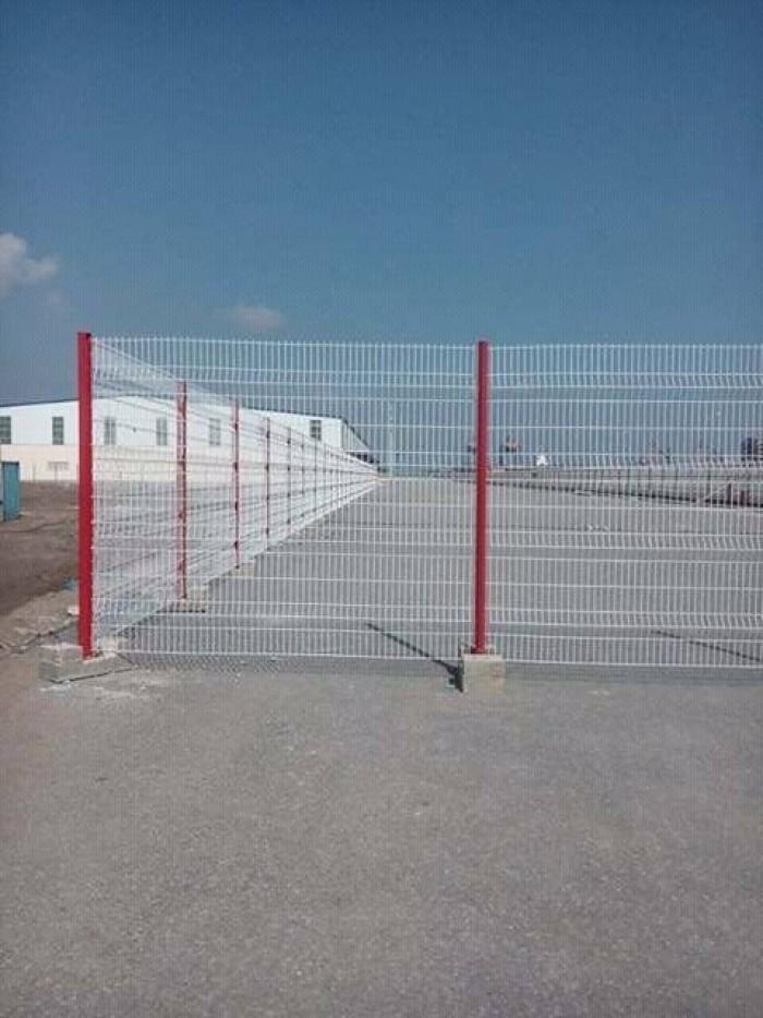 Hàng rào lưới thép D5 a 50x150, 50x200 chấn sóng mạ kẽm,hàng rào sơn tĩnh điện13