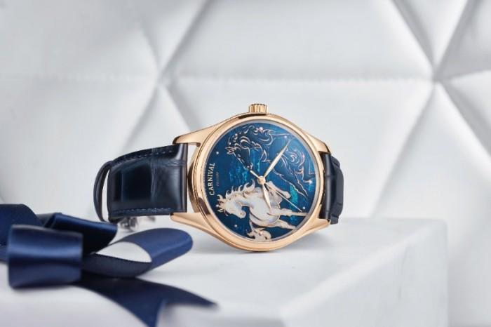Đồng hồ nam Carnival phiên bán song mã limited0
