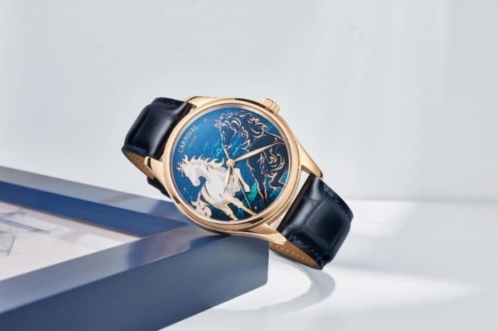 Đồng hồ nam Carnival phiên bán song mã limited1