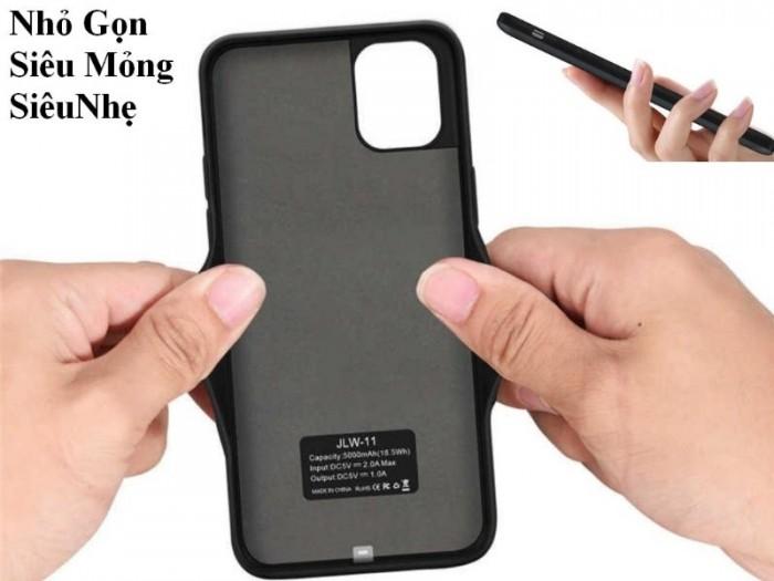 Ốp Lưng Kiêm Sạc Dự Phòng IPhone 11 Pro Max (Màu Đen)