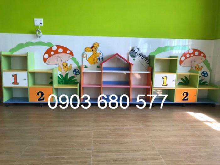 Cần bán tủ kệ mầm non dành cho trẻ em giá rẻ, chất lượng cao16