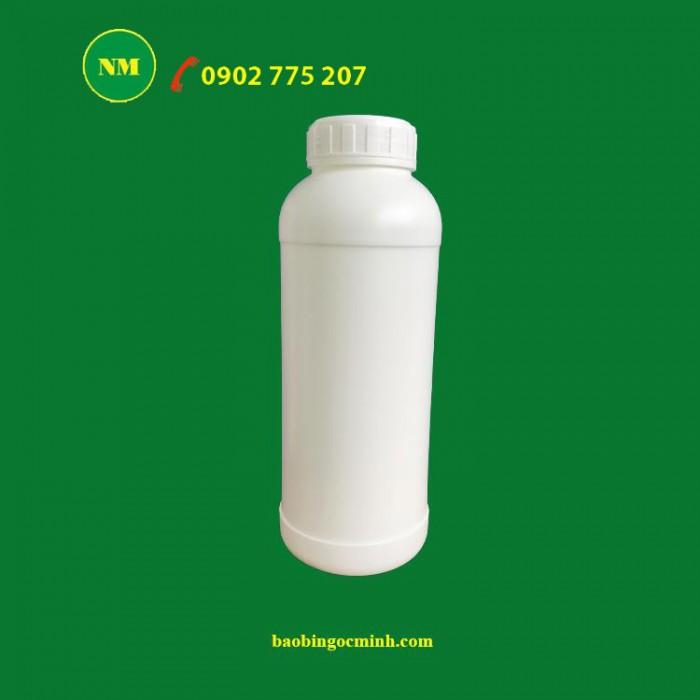 Chai nhựa 1 lít đựng hóa chất 9