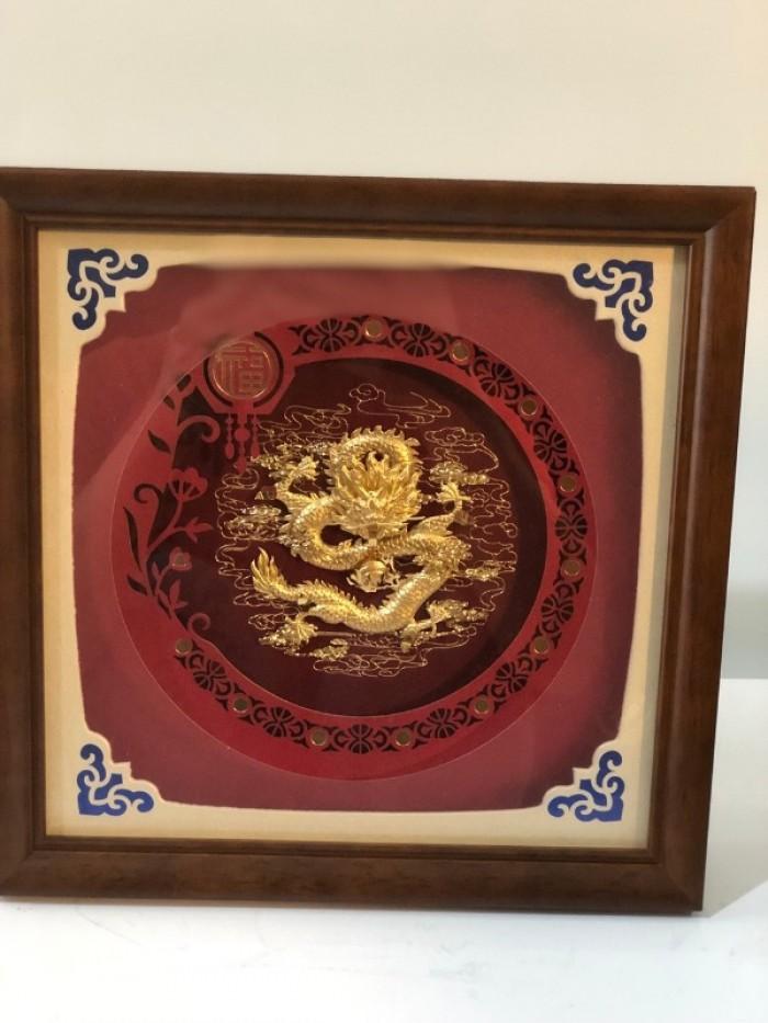 Tranh rồng mạ vàng 24k,quà tặng sếp,đối tác,thầy cô giáo2